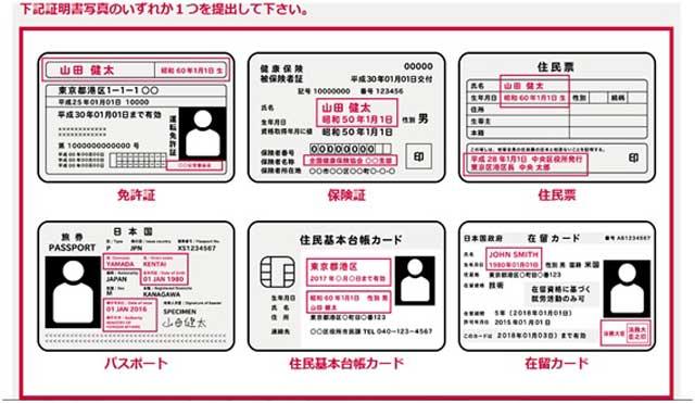 シュガーダディ会員登録可能な証明写真一覧の紹介画面