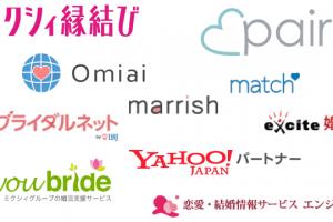 婚活サイト運営会社のサービスロゴの画像