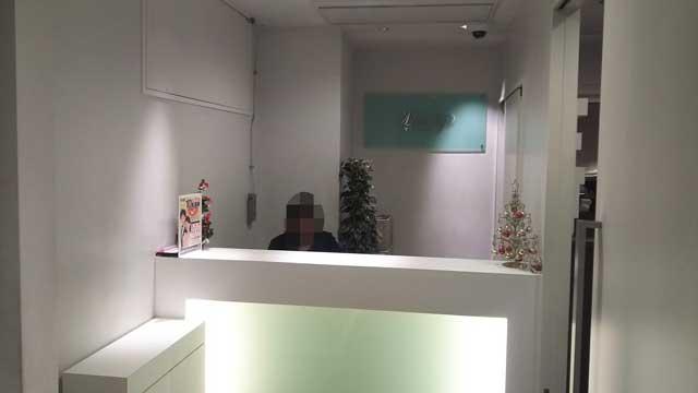 エクシオ銀座マリアージュ会場の受付の写真