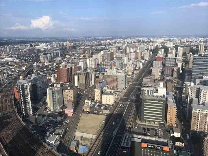 アエル展望テラスから仙台を展望した風景